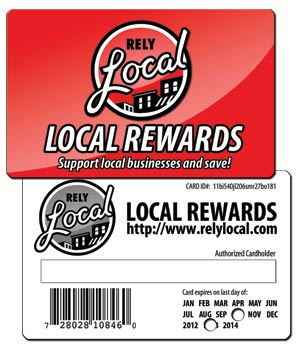 RelyLocal Rewards Card