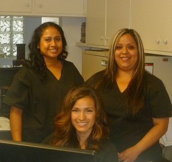 staff at dentist Downey