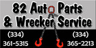 82 Auto Parts & Wrecker Service - Prattville, Alabama