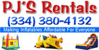 PJ's Rentals - Kids Party Inflatables - Prattville, Alabama