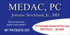 MEDAC, PC  Johnnie Strickland, Jr., MD - Prattville, Alabama