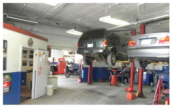 Inside the shop. All A's Automotive & Transmission Repair