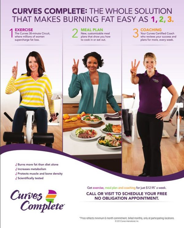 Curves Complete Program, exercise, meal plans, coaching