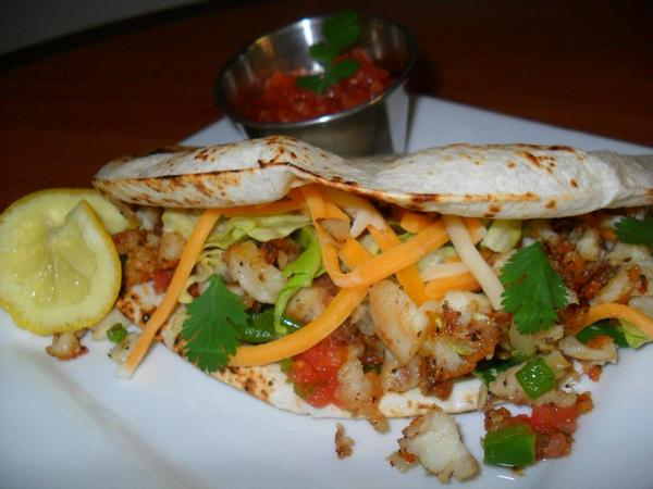 grilled fish taco, mexican food, mexican restaurant