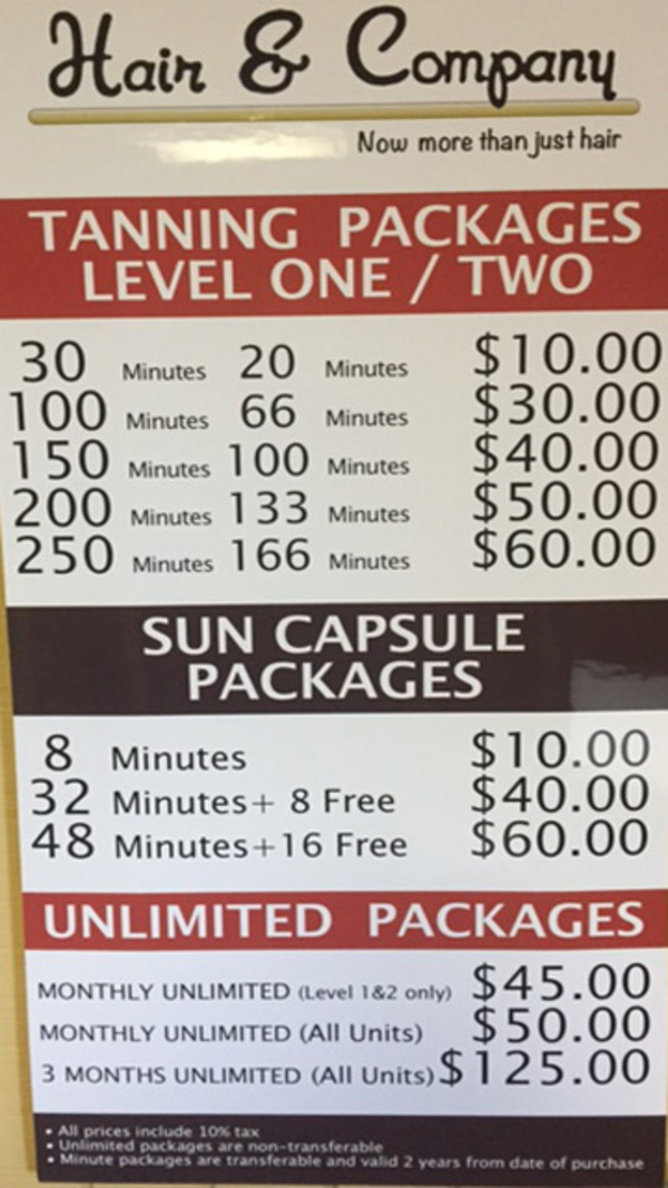 Hair and company tanning salon in mount pleasant wi - Tanning salons prices ...