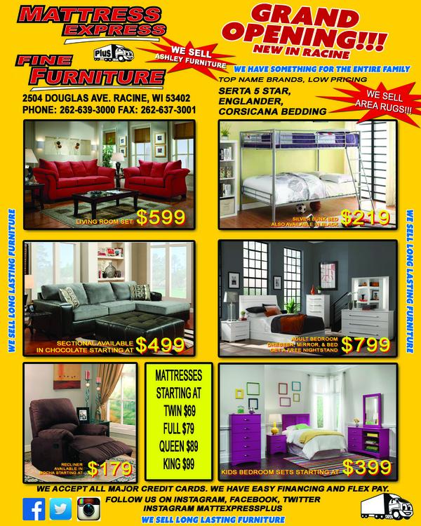 Mattress Express Plus Fine Furniture in Racine WI RelyLocal