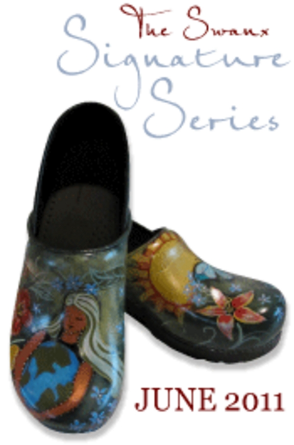 The Swanx Hand Painted Clogs