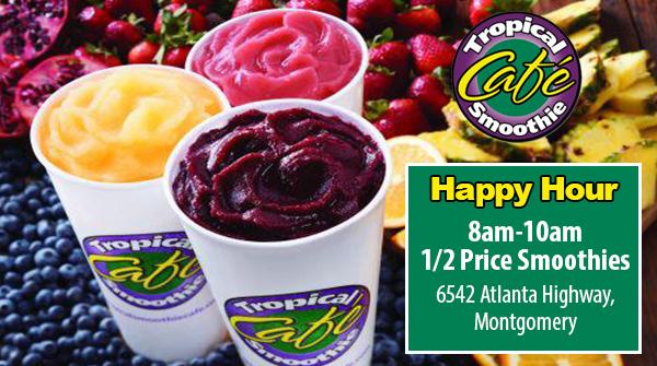 Tropical Smoothie Cafe Menu Montgomery Al