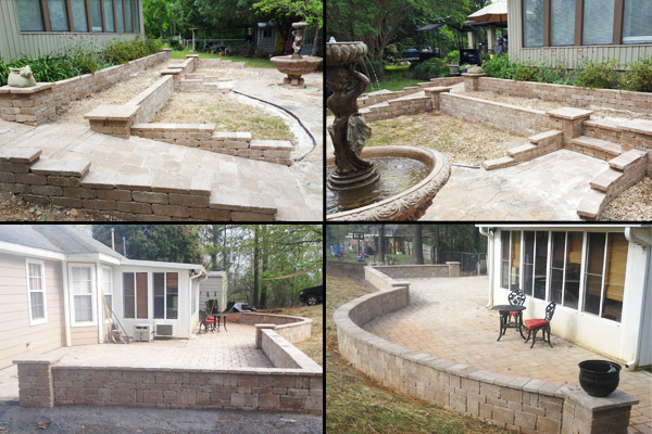 patio pavers and landscape retaining walls in prattville al