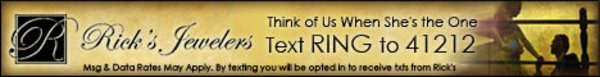 ricks jewelers texting sign up ad