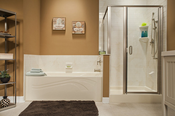 Thumb_almond_wave_bath___shower_base_with_almond White_4x4_walls_and_brushed_nickel_img_1283_hr_bci_639x426  ...