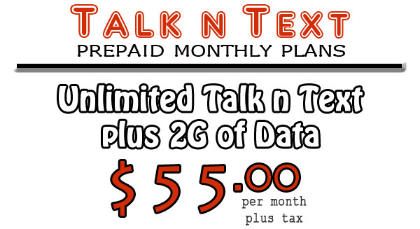 2 guys prepaid plans with unlimited talk and text