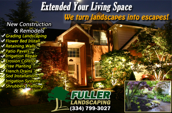 fuller landscaping professionals in prattville, millbrook, montgomery and wetumpka, alabama