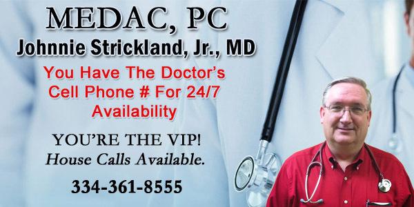 dr. johnnie strickland in prattville al