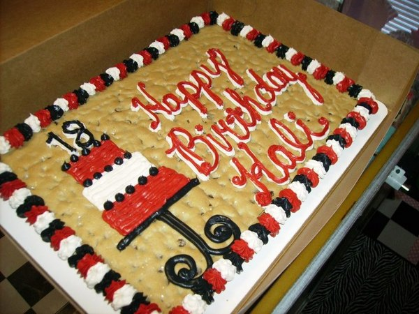 Custom made cookie cake at Sweet Williams cookies in prattville al
