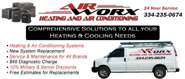 air worx heating and air company in prattville, millbrook and elmore, alabama