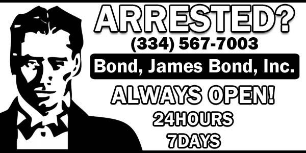 bond, james bond bail bondsman in wetumpka, elmore county alabama