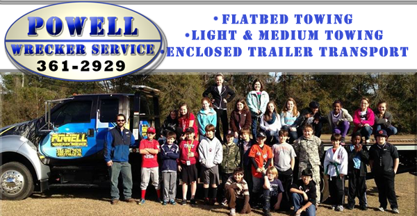 powell wrecker service in prattville alabama page header on relylocal site