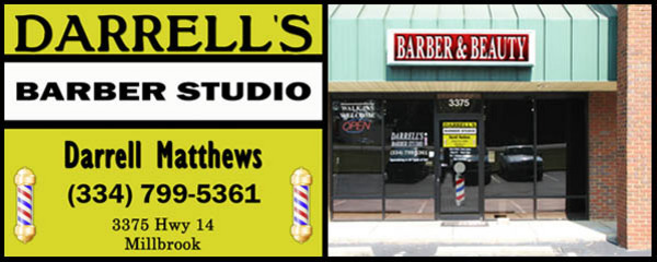 darrell's barber shop studio in millbrook, al