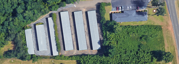 aerial view of self storage units at aaa mini storage in prattville al