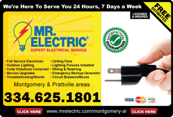 Mobile, AL Jace was very professional and quickly replaced the exhaust fan. We will definitely call Mr Electric for any other electrical work we need in the future/5().