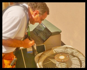 testing air conditioning at home inspection in Orange County